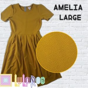 NWT LuLaRoe Gold Amelia Dress